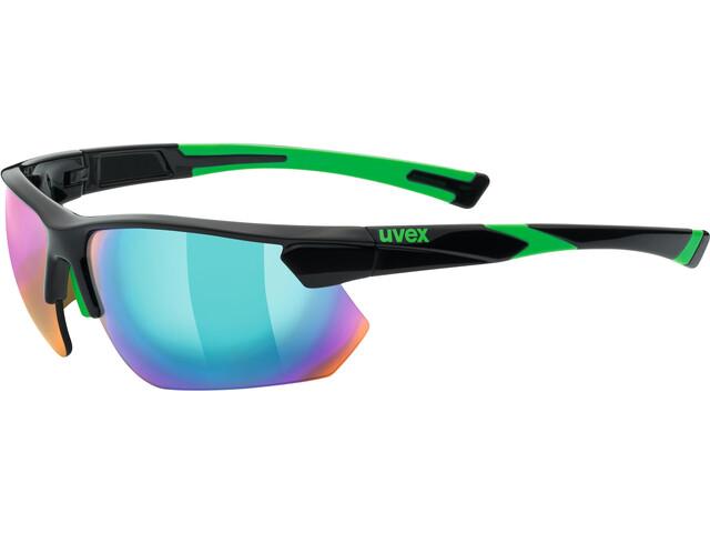 UVEX Sportstyle 221 Sportglasses black green/mirror green
